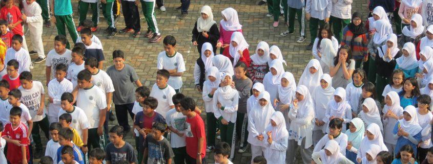 Escola Indonèsia. Classe d'educació física