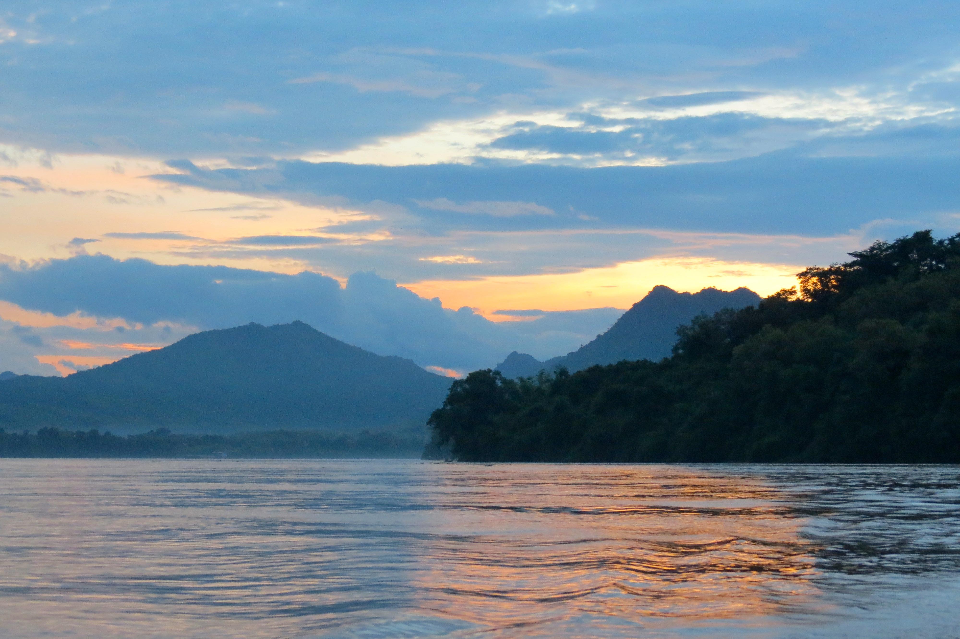 Luang Prabang Mekong sunset posta de sol