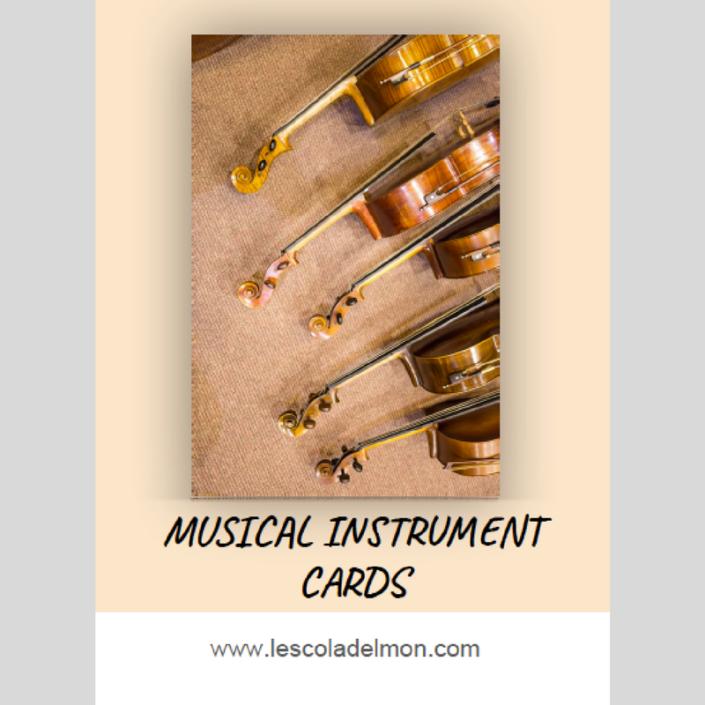 instrumentos recortable inglés