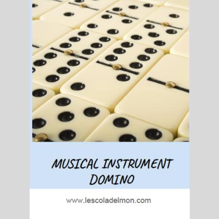 Domino instrumentos inglés