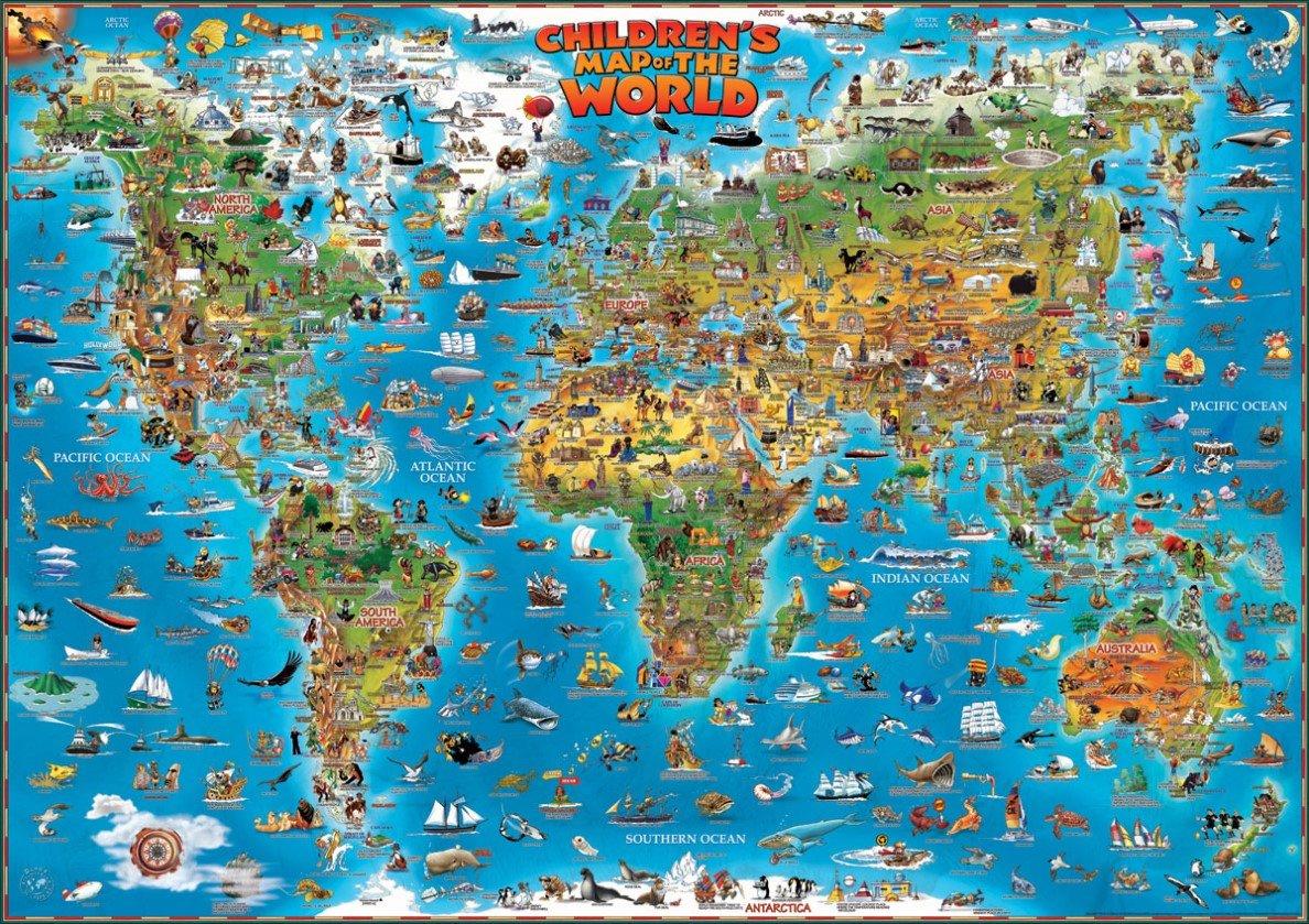 mapa mundo aula