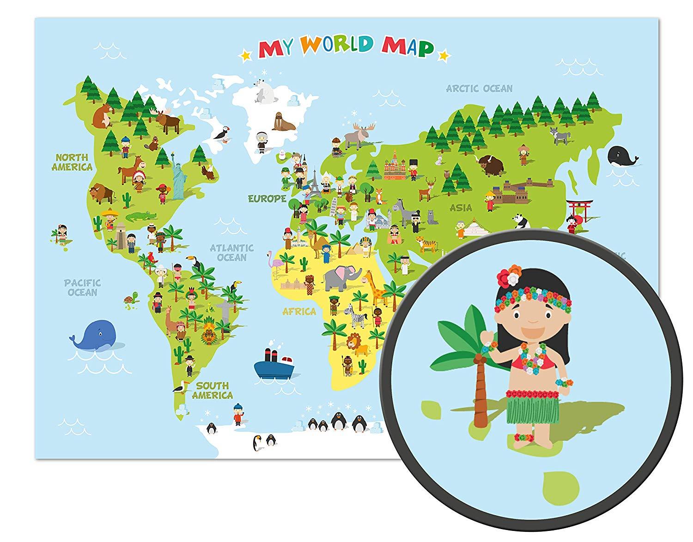 mapa mundo niños